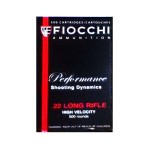 Fiocchi 22 LR Ammunition - 500 Rounds of 38 Grain CPHP
