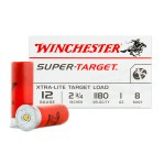 "Winchester Target 12 Gauge Ammunition - 250 Rounds of 2-3/4"" 1 oz. #8 Shot"