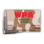 Wolf WPA Military Classic 308 Winchester Ammunition - 20 Rounds of 145 Grain FMJ