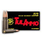 Tula 308 Winchester Ammunition - 500 Rounds of 150 Grain FMJ