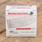 Winchester Range Pack 45 ACP Ammunition - 600 Rounds of 230 Grain FMJ