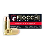 Fiocchi 40 S&W Ammunition - 1000 Rounds of 180 Grain CMJTC