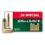 Sellier & Bellot 38 Special Ammunition - 50 Rounds of 158 Grain LRN