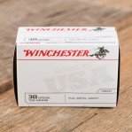 Winchester 38 Special Ammunition - 500 Rounds of 130 Grain FMJ