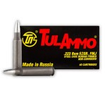 Tula 223 Remington Ammunition - 40 Rounds of 62 Grain FMJ