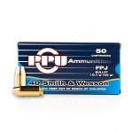 Prvi Partizan 40 S&W Ammunition - 500 Rounds of 165 Grain FPJ