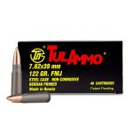Tula 7.62x39 Ammunition - 1000 Rounds of 122 Grain HP