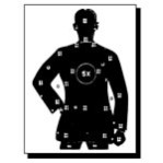 B-21-X Paper Targets - 50 Ft Police Silhouette - 100 Count