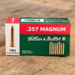 Sellier & Bellot 357 Magnum Ammunition - 50 Rounds of 158 Grain FMJ