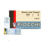 "Fiocchi Game and Target 12 Gauge Ammunition - 250 Rounds of 2-3/4"" 1 oz. #8 Shot"