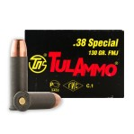 Tula 38 Special Ammunition - 1000 Rounds of 130 Grain FMJ