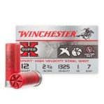 "Winchester Super-X 12 Gauge Ammunition - 100 Rounds of 2-3/4"" 1 oz. #7 Steel Shot"
