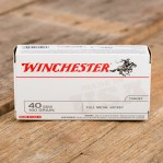Winchester USA 40 S&W Ammunition - 500 Rounds of 180 Grain FMJ
