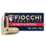 Fiocchi 40 S&W Ammunition - 1000 Rounds of 180 Grain FMJ
