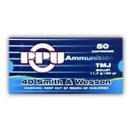 Prvi Partizan 40 S&W Ammunition - 500 Rounds of 180 Grain TMJ
