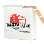 "Tan Target Pasters - 1000 Count - 7/8"" Boxed Square Adhesive Pasters"