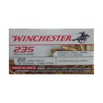 Winchester 22 LR Ammunition - 235 Rounds of 36 Grain Copper Plated Hollow Point