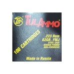 Tula 223 Remington Ammunition - 100 Rounds of 62 Grain FMJ