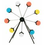 VisiChalk Target Wheel with 18 Chalk Targets - Rotary Target Stand - Champion - 1 Setup