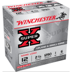 """Winchester Super-X Upland & Small Game 12 Gauge Ammunition - 250 Rounds of 2-3/4"""" 1 oz. #6 Shot"""
