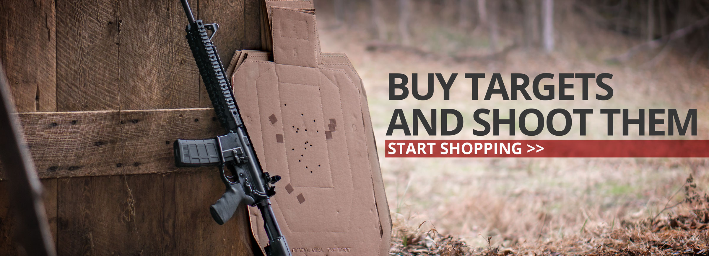 Buy targets and start shooting