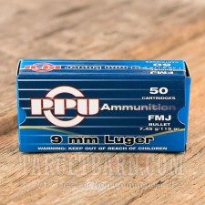 Prvi Partizan 9mm Luger Ammunition - 1000 Rounds of 115 Grain FMJ