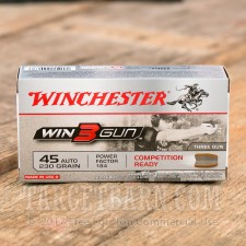 WINCHESTER WIN3GUN 45 ACP AMMUNITION - 50 ROUNDS OF 230 GRAIN FMJ