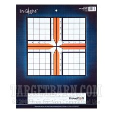 In-Sight 10 Square Inch 100 Yard Small Bore Rifle Target - Precision Zeroing  - Champion - 12 Count