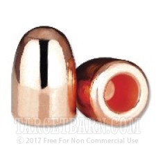 ".356"" Berry's 380 Caliber Bullets - 1000 Qty - 100 gr Plated Round Nose-Hollow Base"