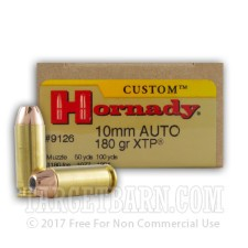 Hornady Custom 10mm Auto Ammunition - 200 Rounds of 180 Grain XTP