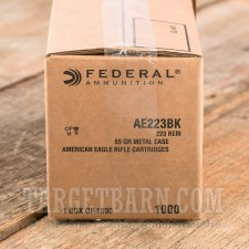 Federal American Eagle 223 Remington Ammunition - 1000 Rounds of 55 Grain FMJ