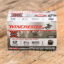 "Winchester Super-X 12 Gauge Ammunition - 15 Rounds of 2 3/4"" 1 oz Slug"
