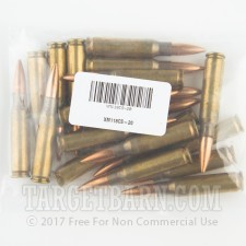Lake City Army Ammunition Plant 7.62 NATO Ammunition - 20 Rounds of 175 Grain OTM