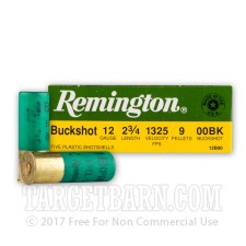 "12 Gauge - 2-3/4"" 00 Buck - Remington Express - 250 Rounds"