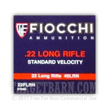 Fiocchi Performance Shooting Dynamics 22 LR Ammunition - 50 Rounds of 40 Grain LRN