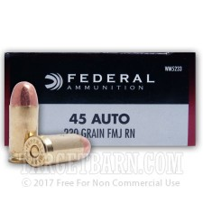 Federal Champion 45 ACP Ammunition - 1000 Rounds of 230 Grain FMJ