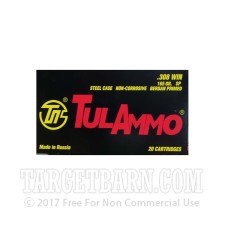 Tula 308 Winchester Ammunition - 20 Rounds of 165 Grain SP