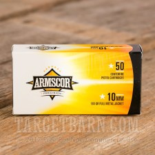 Armscor 10mm Auto Ammunition - 50 Rounds of 180 Grain FMJ