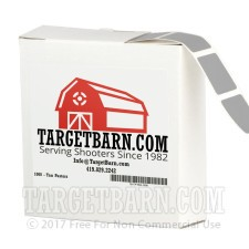 "Gray Target Pasters - 1000 Count - 7/8"" Boxed Square Adhesive Pasters"