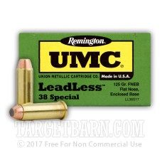 Remington UMC 38 Special Ammunition - 500 Rounds of 125 Grain FNEB