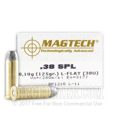 Magtech 38 Special Ammunition - 50 Rounds of 125 Grain LFN