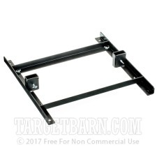 """18"""" Upright Steel Target Stand - Collapsible - Single Target - Flat Black"""