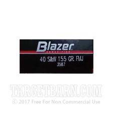 Blazer 40 S&W Ammunition - 50 Rounds of 155 Grain FMJ