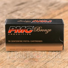 PMC Bronze 40 S&W Ammunition - 50 Rounds of 165 Grain FMJ-FP