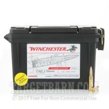 Winchester (Ammo Can) 7.62 NATO Ammunition - 240 Rounds of 147 Grain FMJ