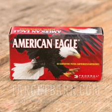 Federal American Eagle 9mm Luger Ammunition - 50 Rounds of 115 Grain FMJ