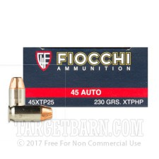 Fiocchi 45 ACP Ammunition - 500 Rounds of 230 Grain JHP