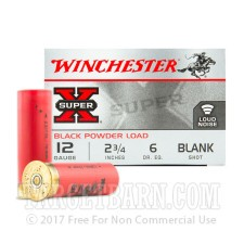 "Winchester Super-X 12 Gauge Ammunition - 25 Rounds of 2-3/4"" Blank Shot"