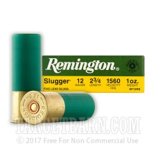 "Remington Slugger 12 Gauge Ammunition - 5 Rounds of 2-3/4"" 1 oz. Rifled Slug"