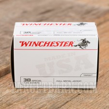 Winchester Value Pack 38 Special Ammunition - 100 Rounds of 130 Grain FMJ